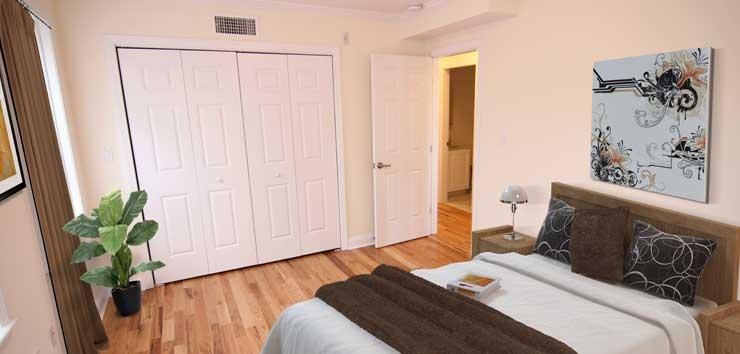 Langdon Square Apartments bedroom