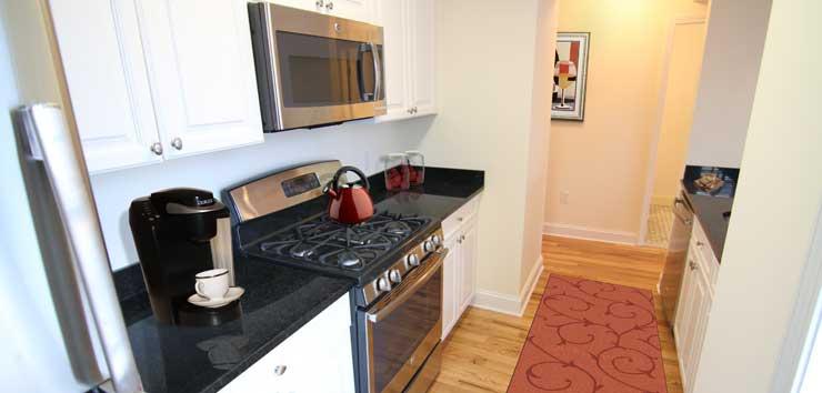 Langdon Square Apartments kitchen