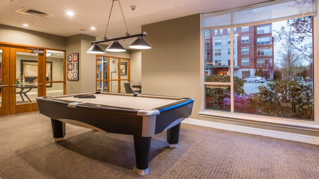 Longview Place Apartments billiards play area