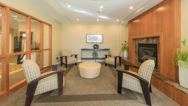 Longview Place Apartments fireplace