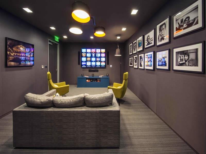 Zinc tables lounge area