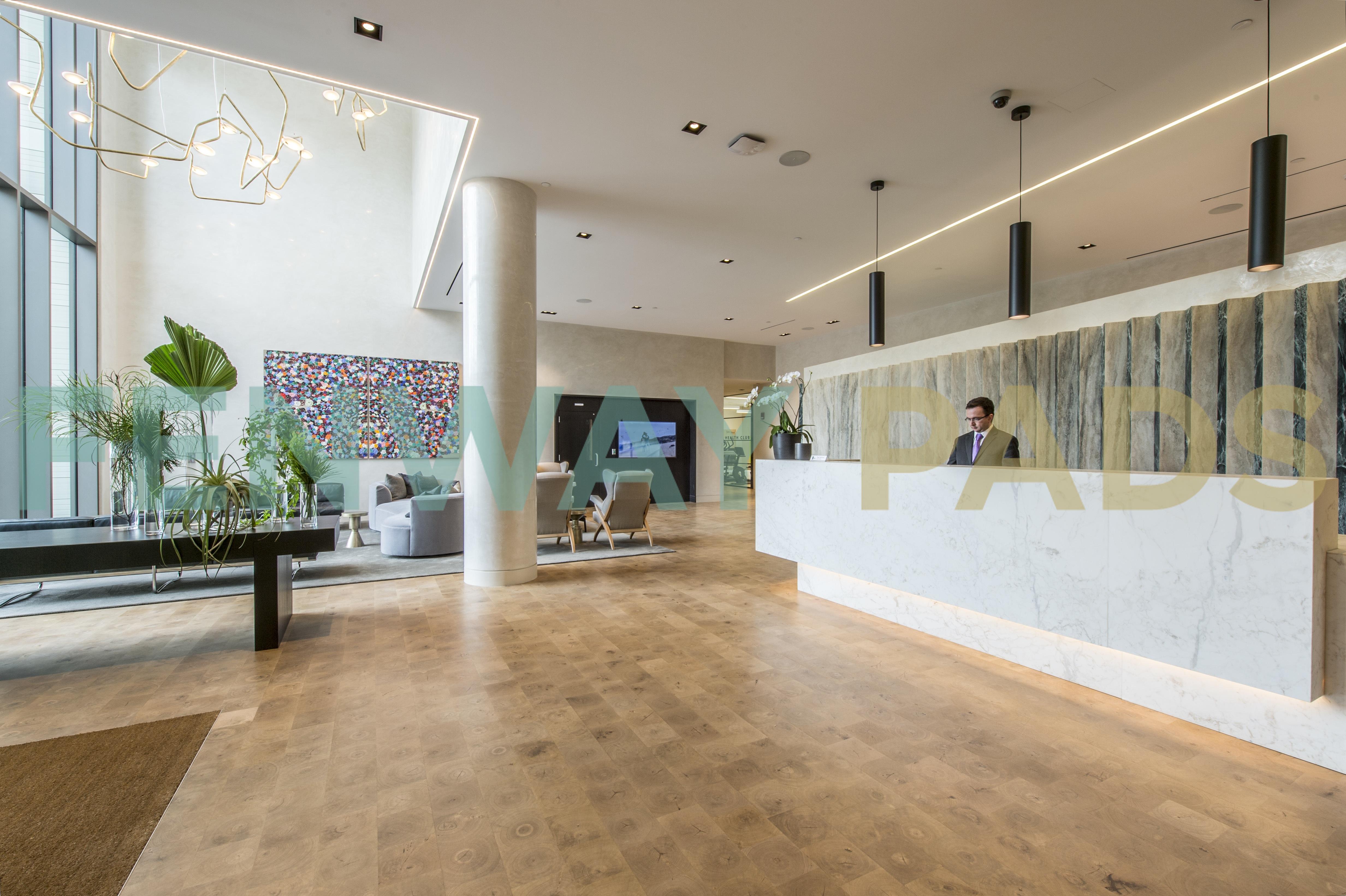 The Viridian lobby