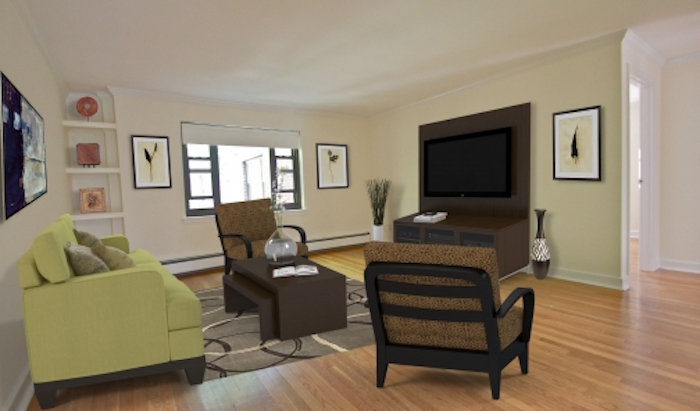 Harvard Terrace living room