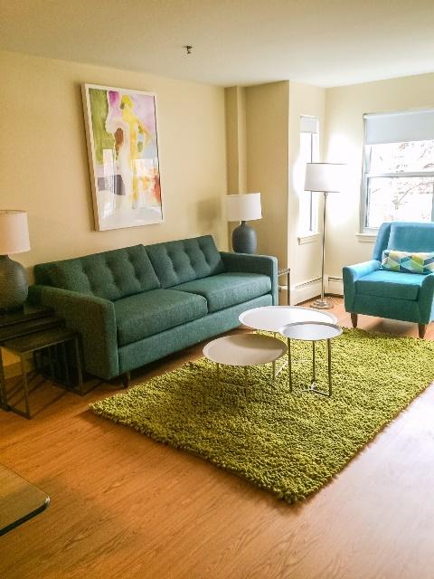 Mission Main Apartments Boston living room