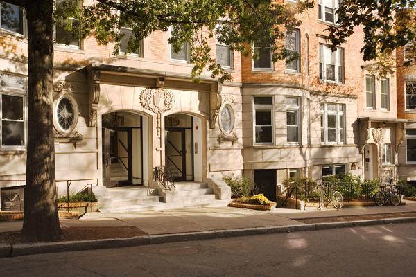 Hampton Court Apartments Brookline front view