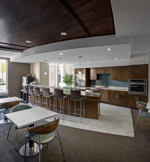 The Residence at Rivers Edge dining area