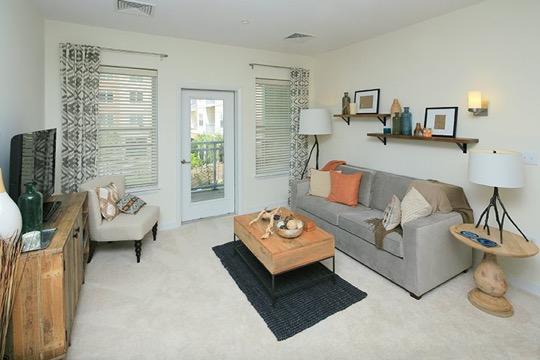Brigham Square Arlington living room