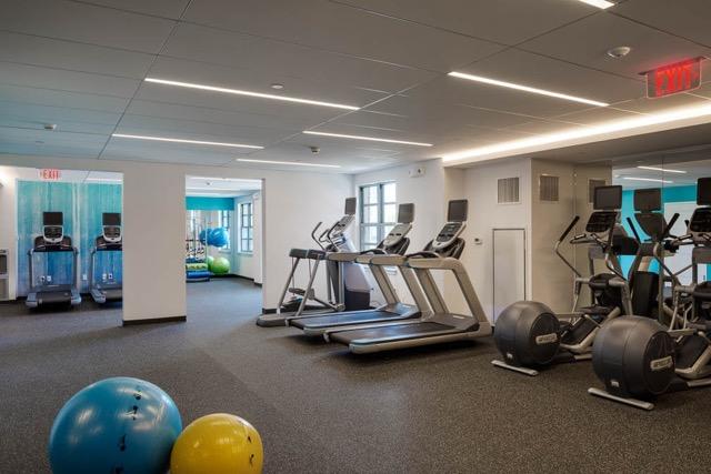 50 & 55 Station Landing medford fitness area