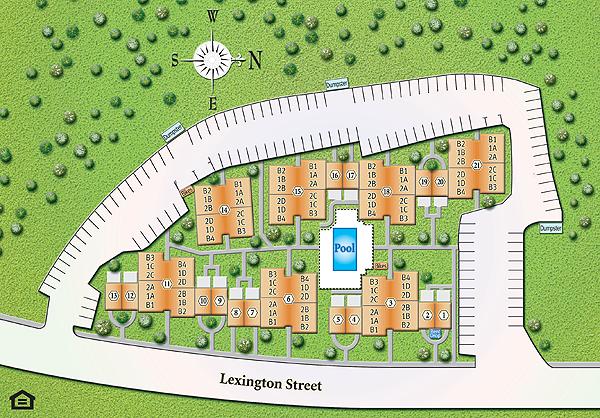 Shaker Glen Village building plan
